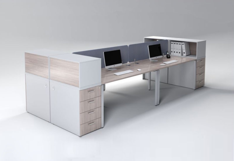 EVOLUTION 3800 4 SEATER DESK WITH 4 DRAWERS