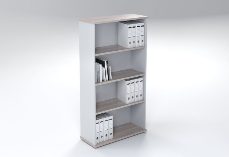 4 TIER BOOKCASE OPEN