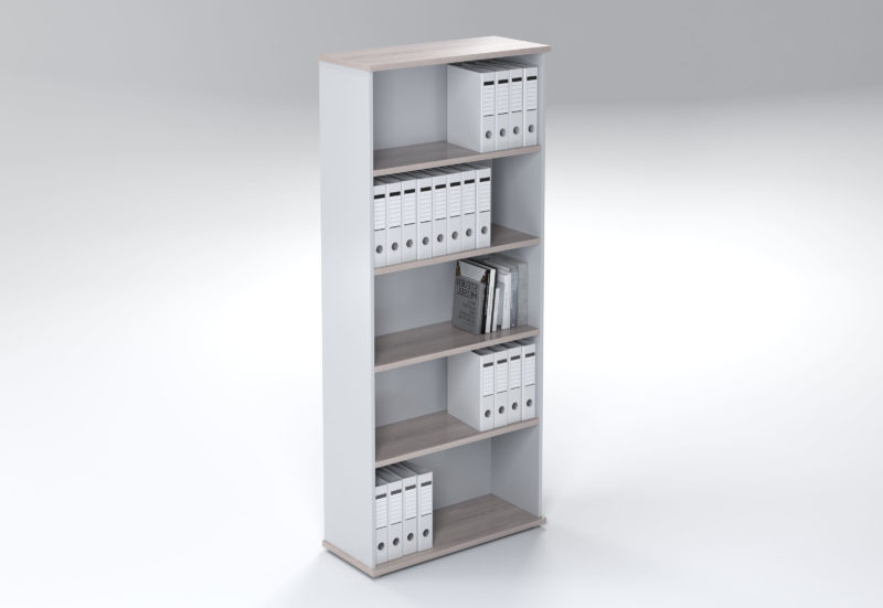 5 TIER BOOKCASE OPEN